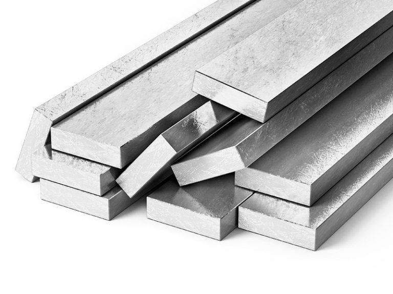Barras retangulares de alumínio